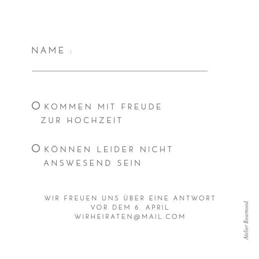 Antwortkarte Hochzeit Elegant herz (gold) weiß - Seite 2