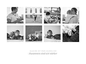 Poster groß erinnerung 8 fotos lang weiß