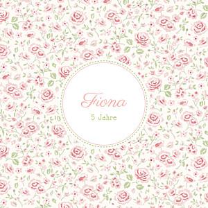 Geburtstagseinladung Rosen rosa