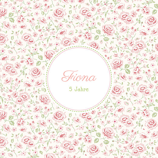Geburtstagskarten Kinder Rosen rosa