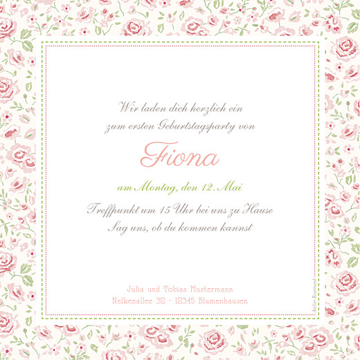Geburtstagskarten Kinder Rosen rosa - Seite 2
