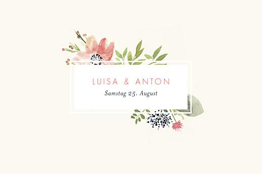 Tischkarten Hochzeit Blumen aquarell beige - Seite 2