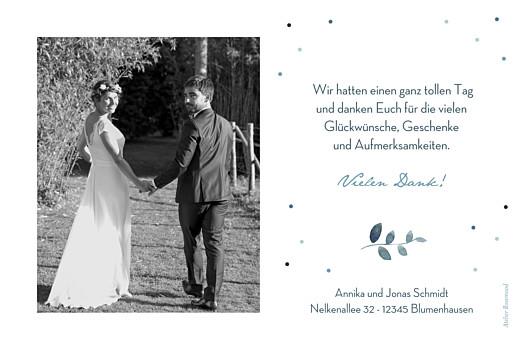 Dankeskarten Hochzeit Sommernacht blau - Seite 2