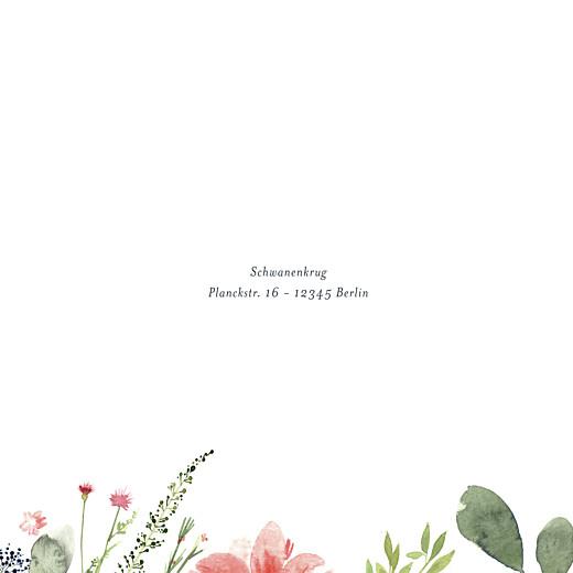 Hochzeitseinladung Blumen aquarell beige