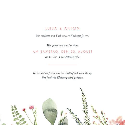 Hochzeitseinladungen Blumen aquarell beige - Seite 3