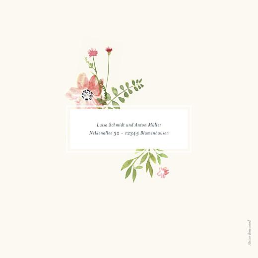 Hochzeitseinladungen Blumen aquarell beige - Seite 4