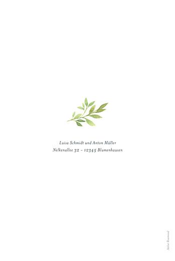 Hochzeitseinladungen Blumen aquarell hoch beige - Seite 2
