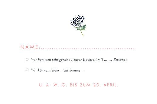 Antwortkarte Hochzeit Blumen aquarell beige - Seite 2
