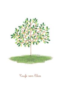 Taufeinladung Baum Rosemood