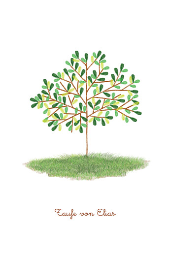 Menükarten Taufe Baum Rosemood