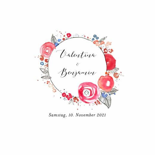 Hochzeitseinladungen Blütezeit weiß