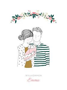 Poster klein lovely day rosa