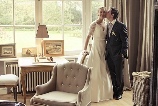 Dankeskarten Hochzeit Medaillon klappkarte lang sand - Seite 2