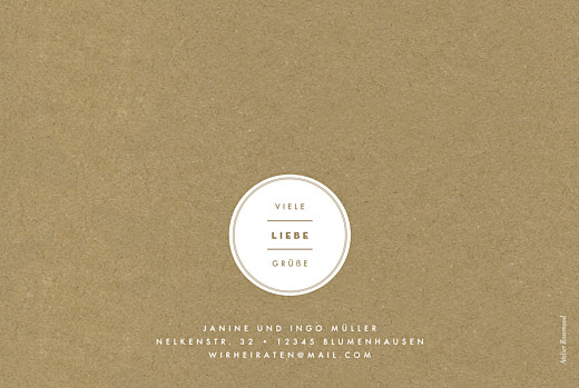 Dankeskarten Hochzeit Medaillon klappkarte lang sand - Seite 4