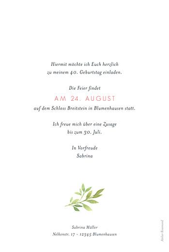 Geburtstagseinladungen Blumen aquarell beige - Seite 2