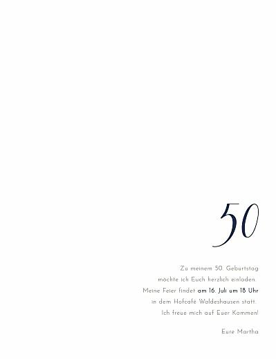 Geburtstagseinladungen Edle funken (gold) marineblau
