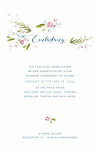 Geburtstagseinladungen ohne foto frühlingshauch weiß