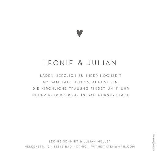 Hochzeitseinladungen Elegant herz weiß - Seite 2