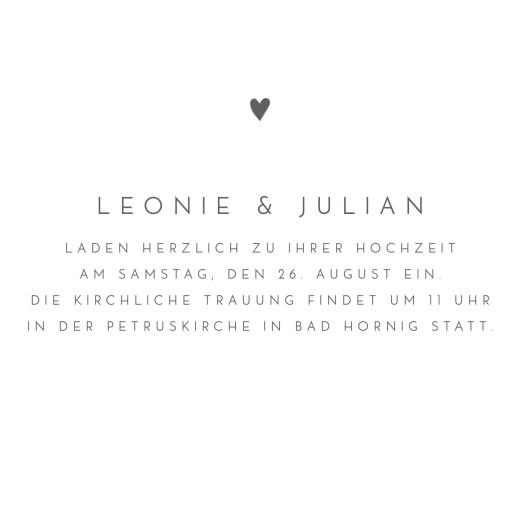 Hochzeitseinladungen Elegant herz (klappkarte) weiß - Seite 3
