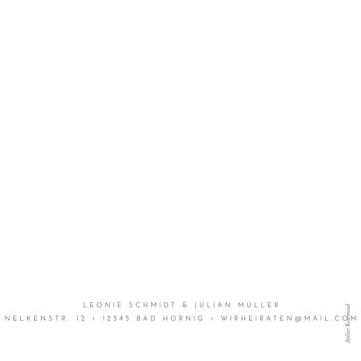 Hochzeitseinladungen Elegant herz (klappkarte) weiß - Seite 4