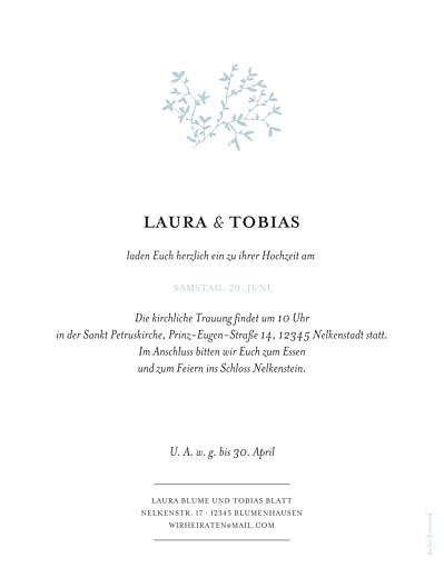 Hochzeitseinladungen Zarte poesie hoch (gold) grün - Seite 2