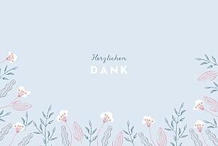 Mini dankeskarten taufe freudenflug blau
