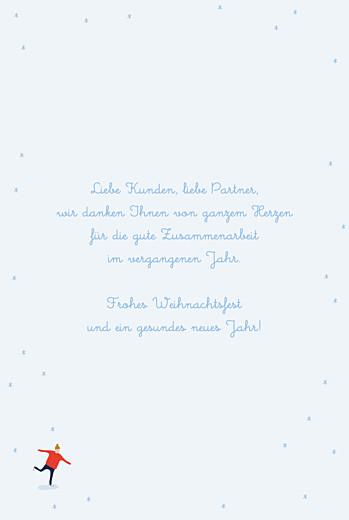 Weihnachtskarten geschäftlich Winterspaß (klappkarte) blau - Seite 3