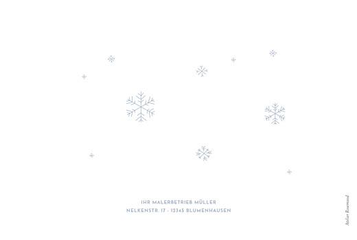 Weihnachtskarten geschäftlich Winter im warmen (klappkarte) blau - Seite 4