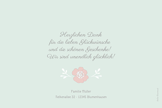 Dankeskarten Blumenkrone grün - Seite 2