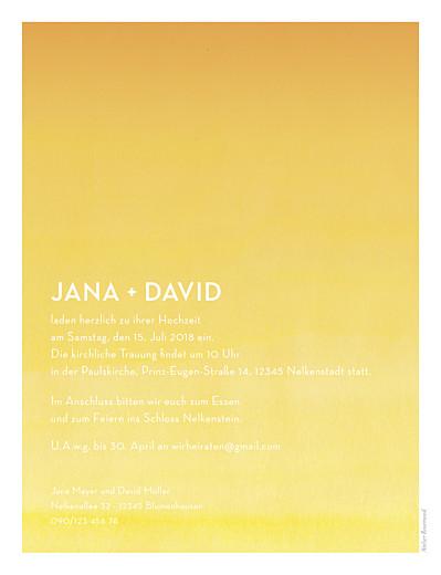 Hochzeitseinladungen Aquarell hoch gelb - Seite 2