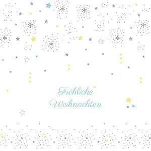 Weihnachtskarten geschäftlich sterne weiss & blau