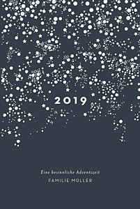 Weihnachtskarten milchstraße (klappkarte) marineblau