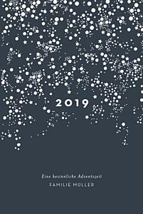 Weihnachtskarten klassisch milchstraße (klappkarte) marineblau