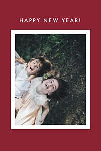 Weihnachtskarten originell fotoecken 1 foto (gold) rot