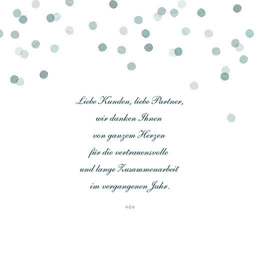 Weihnachtskarten geschäftlich Lichterregen klappkarte (gold) grün - Seite 3