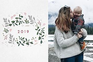 Weihnachtskarten wintergün weiß