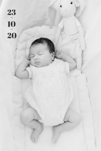 Geburtskarten Dein erster tag hoch weiß