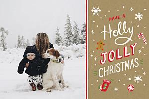 Weihnachtskarten voll im trend holly jolly kraft