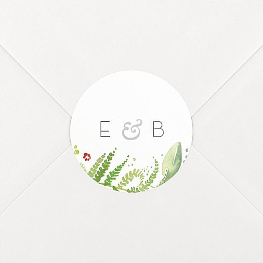 Aufkleber Hochzeit Waldgeflüster grün - Ansicht 2