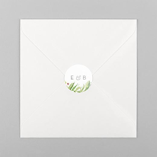 Aufkleber Hochzeit Waldgeflüster grün - Ansicht 1