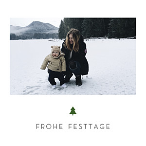 Weihnachtskarten elegant tannenbaum weiß