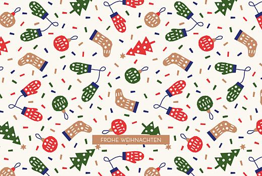 Weihnachtskarten Weihnachtsvergnügen klappkarte beige