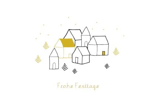 weihnachtskarten weihnachtsdorf klappkarte atelier. Black Bedroom Furniture Sets. Home Design Ideas