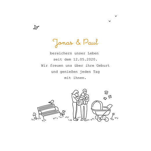 Geburtskarten Spielplatz zwillinge weiß - Seite 3