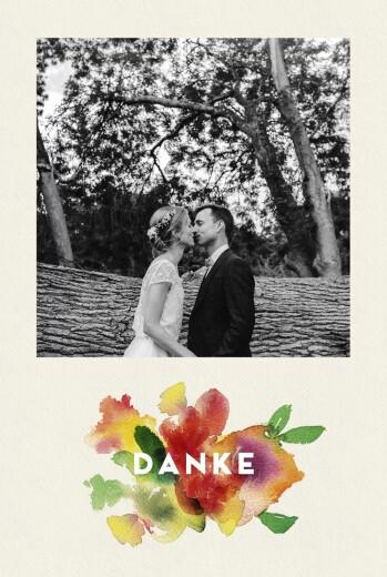 Dankeskarten Hochzeit Bloom beige