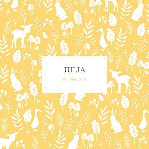 Geburtskarten mädchen fabelhaft gelb