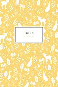 Geburtskarten fabelhaft hoch gelb