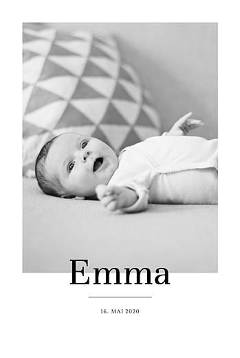 Geburtskarten Stilvoll modern hoch weiß