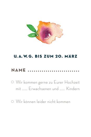 Antwortkarte Hochzeit Bloom (hoch) beige - Seite 2