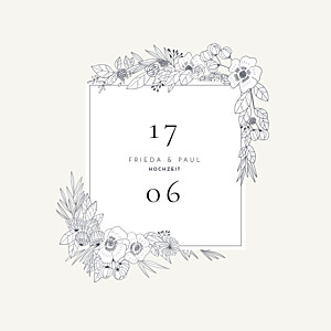 Hochzeitseinladungen tomoë  naturgemälde weiß
